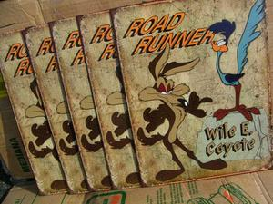 ROAD RUNNER & WILE E.COYOTE PLATE:ロードランナー&コヨーテ プレート(r_cpt)